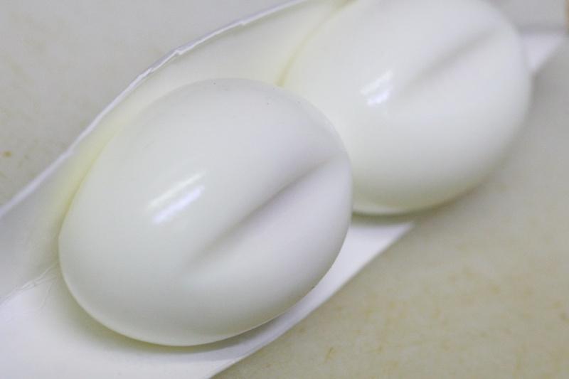 ハート型のゆで卵の作り方5