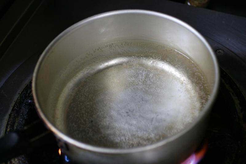 温泉卵の作り方1