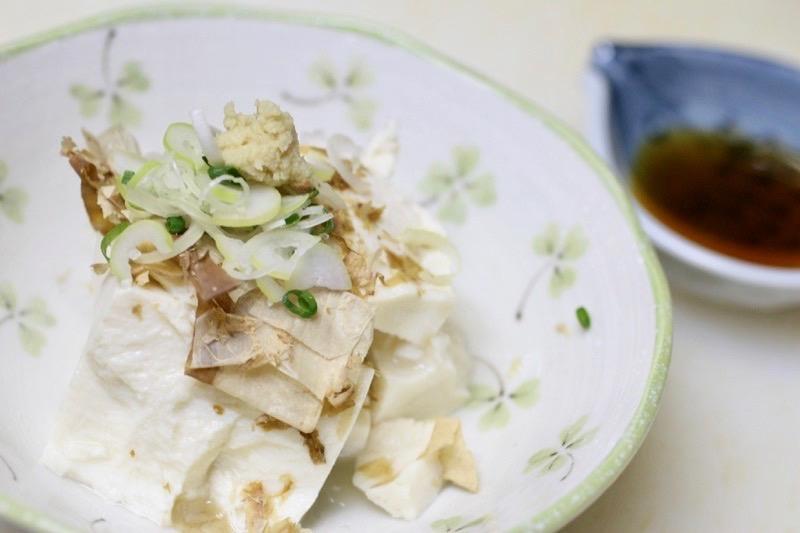 木綿豆腐の冷奴1