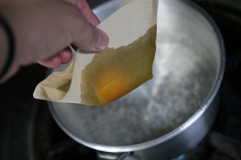 ポーチドエッグの作り方6