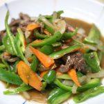 ピーマンと牛肉の炒め物5